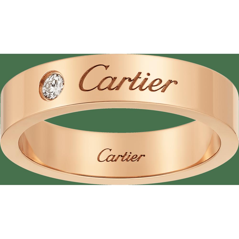 C de Cartier结婚对戒 18K玫瑰金