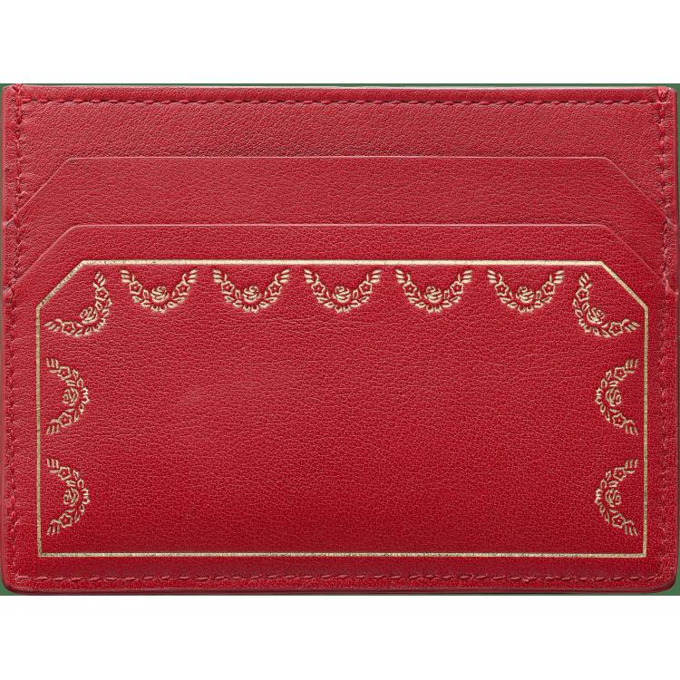 Guirlande de Cartier单卡片夹 红色 小牛皮