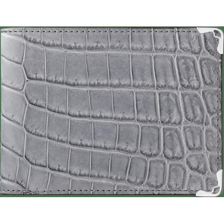 Must de Cartier 6信用卡皮夹 灰色 鳄鱼皮