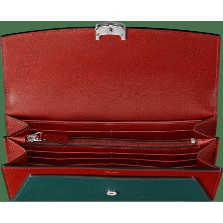 小皮具C de Cartier通用型皮夹 绿色 Taurillon皮革