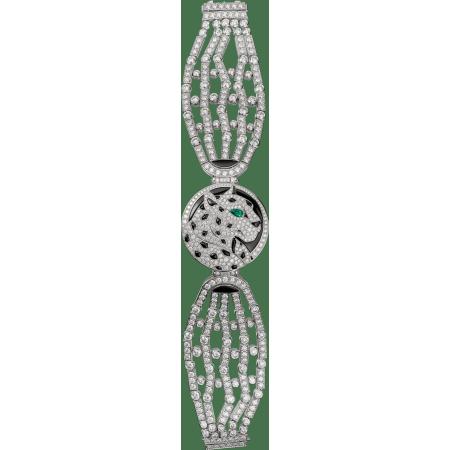 高级珠宝艺术造型腕表 小号 18K镀铑白金 石英