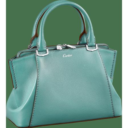 C de Cartier迷你手袋 绿色 Taurillon皮革