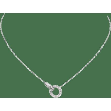 LOVE项链,铺镶钻石 18K白金
