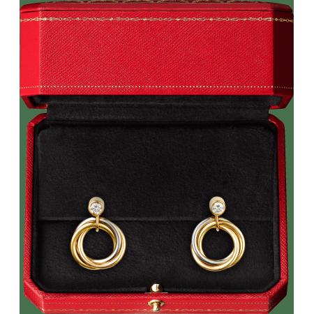 Trinity耳环 18K白金,18K黄金,18K玫瑰金