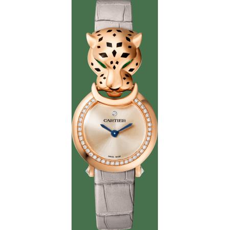 Panthère猎豹装饰珠宝腕表 中号 18K玫瑰金 石英