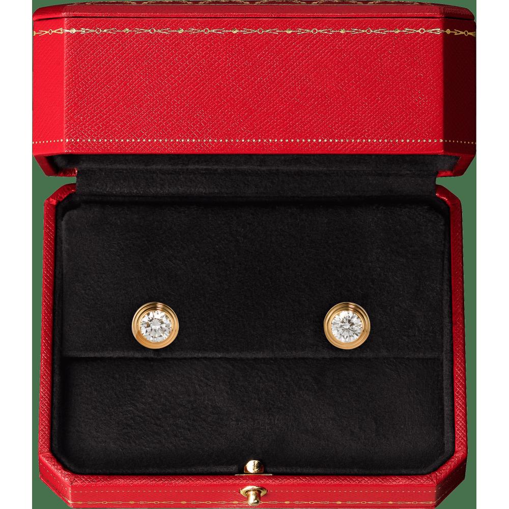 Diamants Légers 耳环,中号款 18K黄金