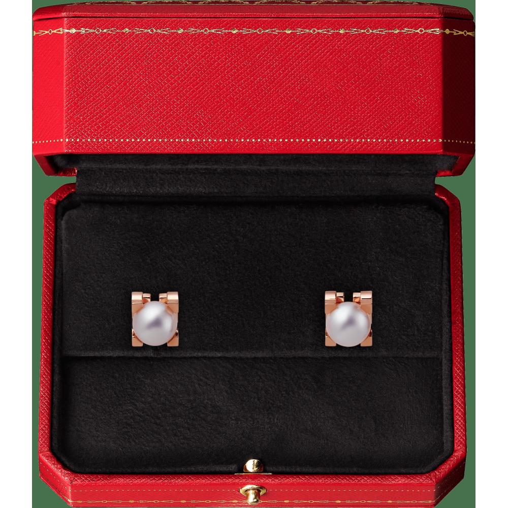 C de Cartier耳环 18K玫瑰金