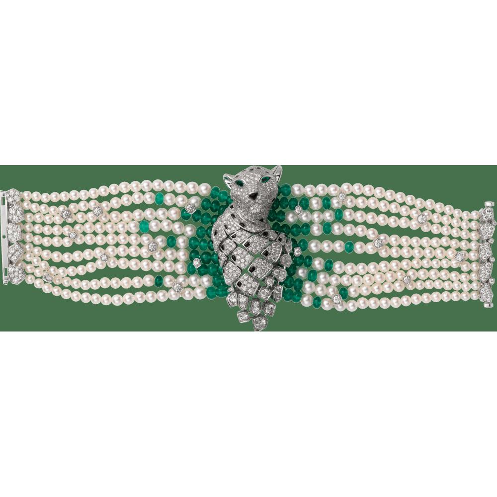 Panthère de Cartier高级珠宝手镯 铂金