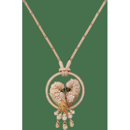 Les Oiseaux Libérés项链 18K玫瑰金