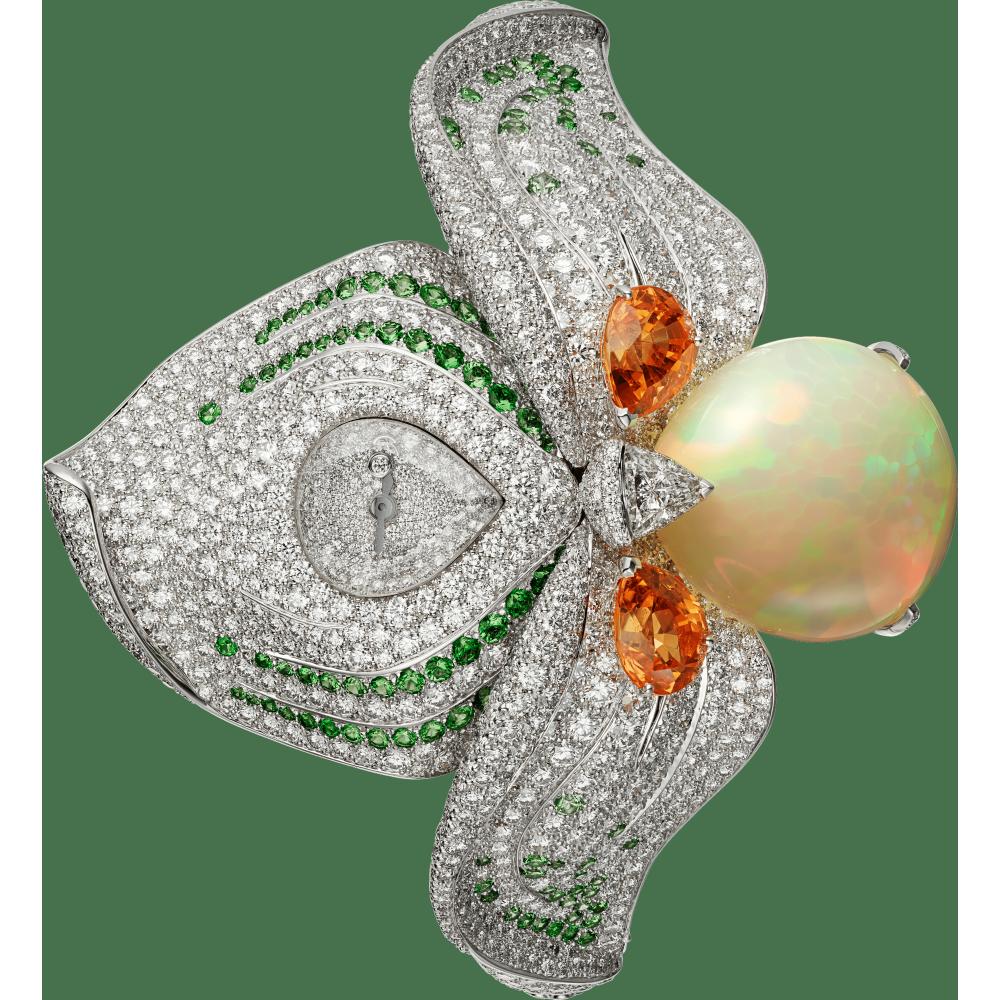 高级珠宝艺术造型腕表  18K白金