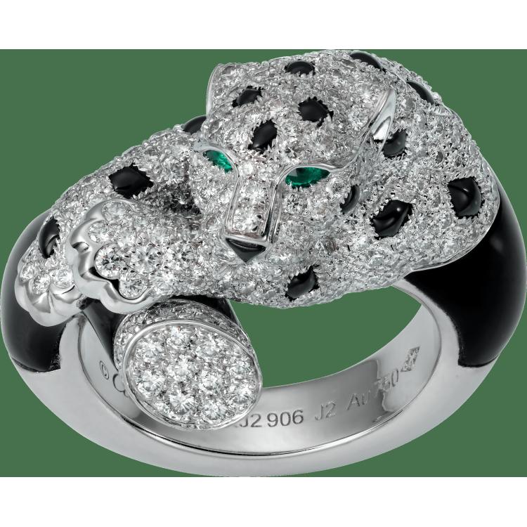 Panthère de Cartier戒指 18K白金