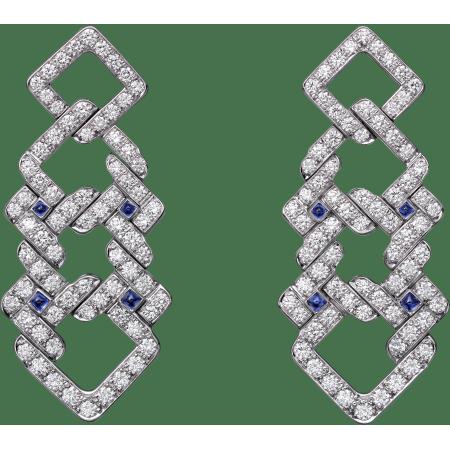 高级珠宝耳环 18K白金