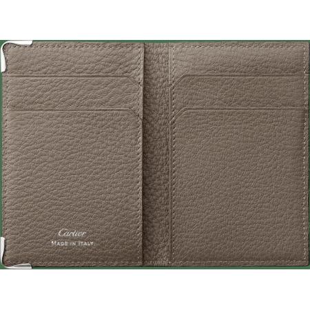 Must de Cartier 4信用卡皮夹 棕色 小牛皮