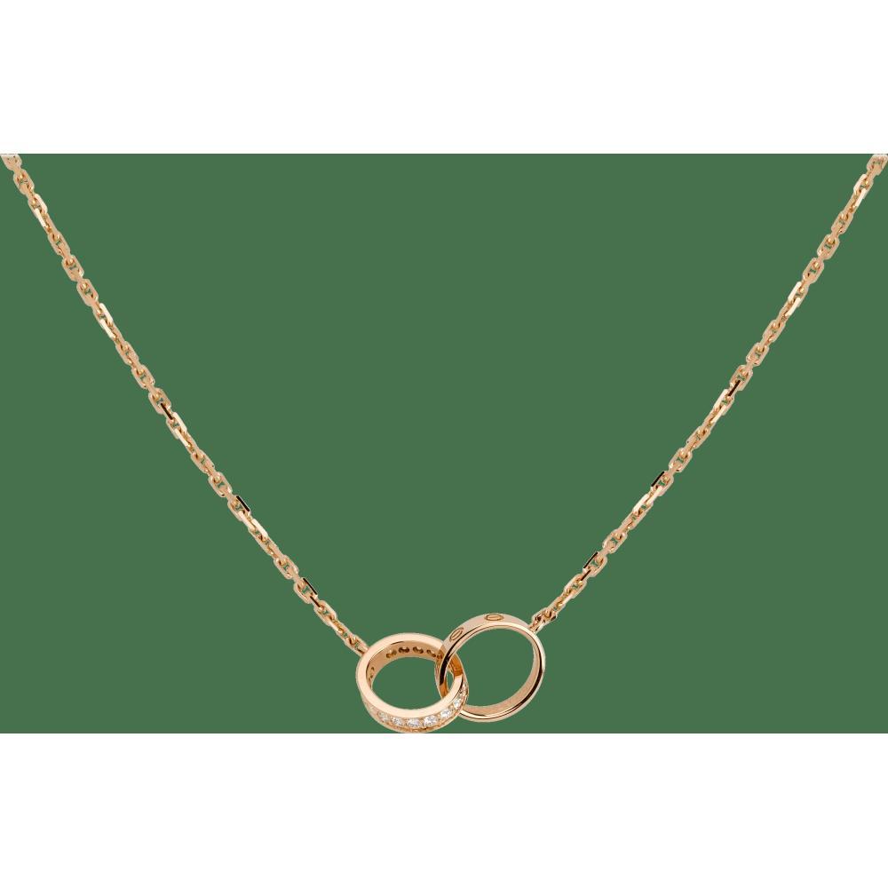 LOVE项链,镶嵌钻石 18K玫瑰金