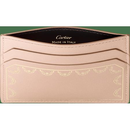 Guirlande de Cartier单卡片夹 米色 小牛皮
