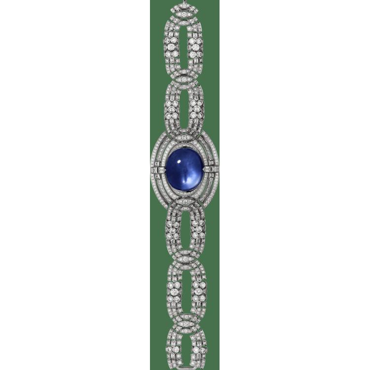 高级珠宝神秘腕表  18K白金