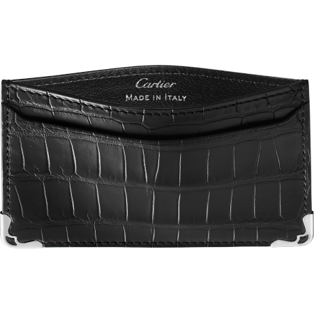 Must de Cartier单片夹 黑色 鳄鱼皮