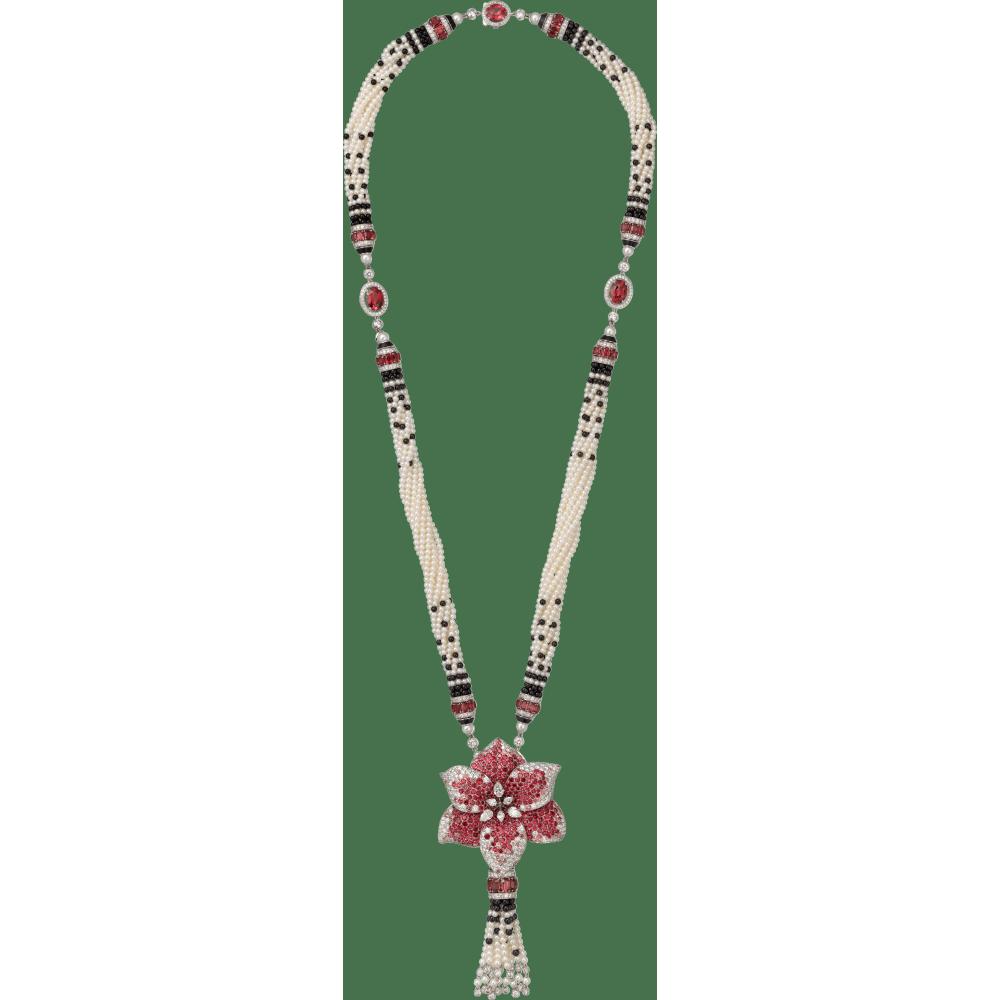Caresse d'Orchidées par Cartier项链 18K白金