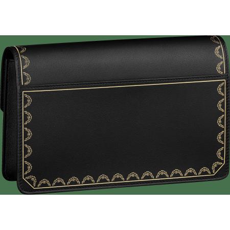 Guirlande de Cartier皮夹式手袋 黑色 小牛皮