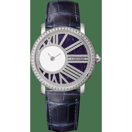 Rotonde de Cartier神秘小时腕表 35毫米 18K镀铑白金 手动上链