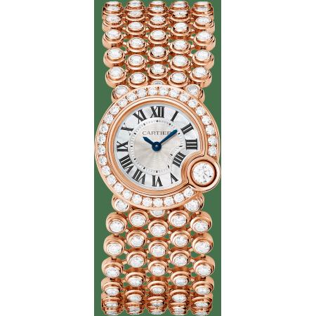 Ballon Blanc de Cartier腕表 24毫米 18K玫瑰金 石英