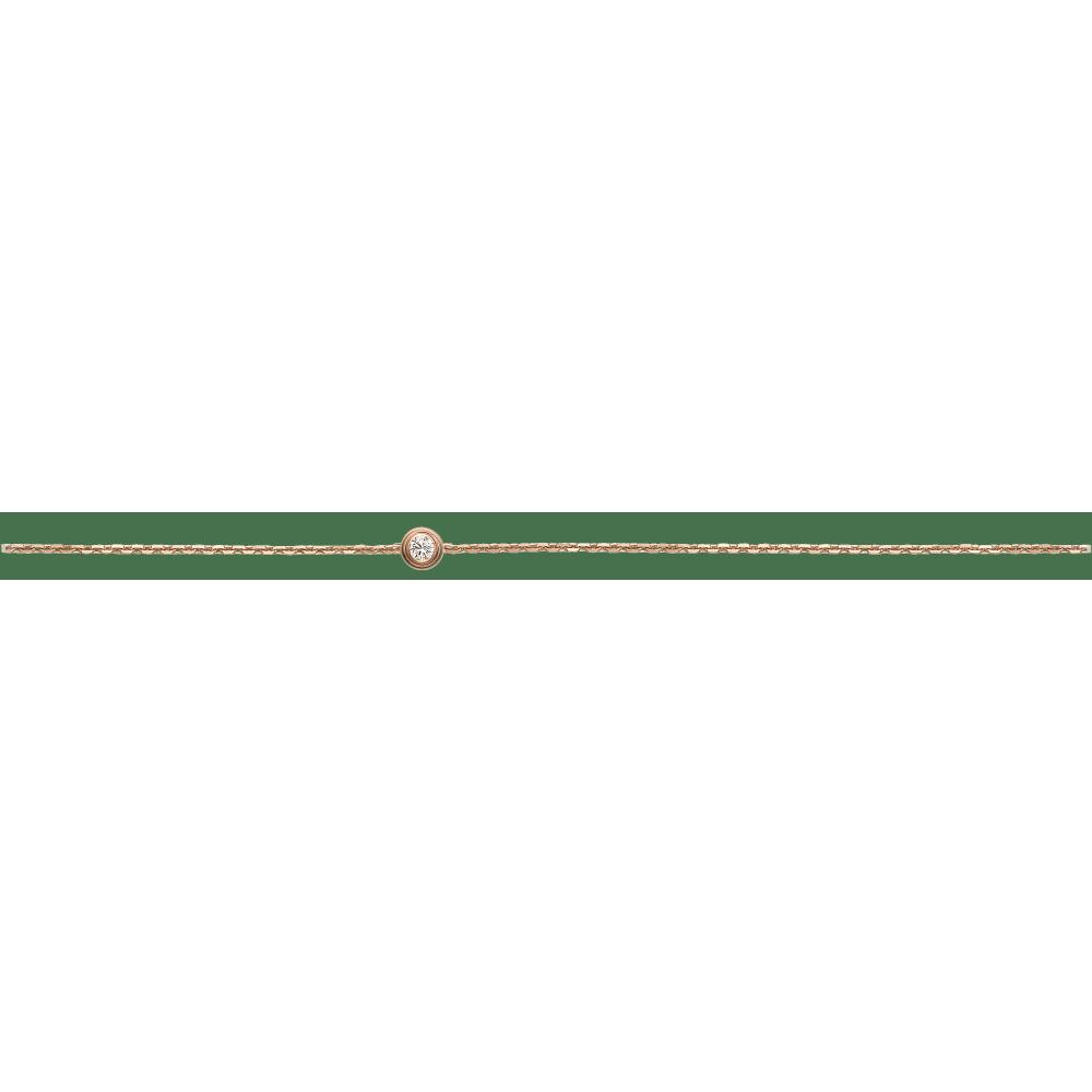 Diamants Légers 手链,超小号款 18K玫瑰金