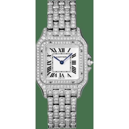 Panthère de Cartier腕表 中号 18K镀铑白金 石英