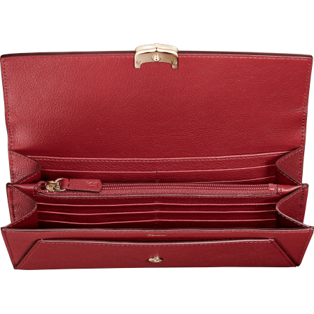 小皮具C de Cartier通用型皮夹 红色 Taurillon皮革