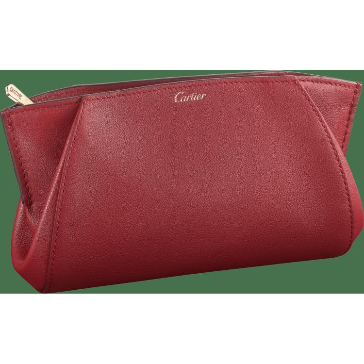 小皮具C de Cartier手拿钱包 红色 Taurillon皮革