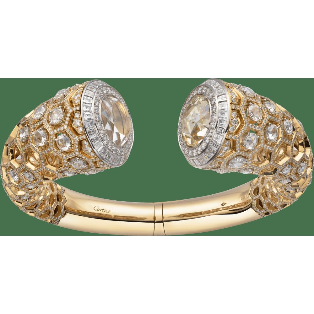 高级珠宝Honeycomb蜂巢装饰腕表  18K黄金
