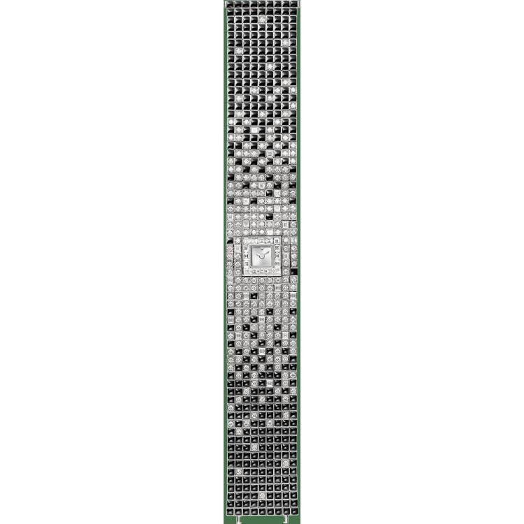 高级珠宝腕表 小号 18K白金 石英
