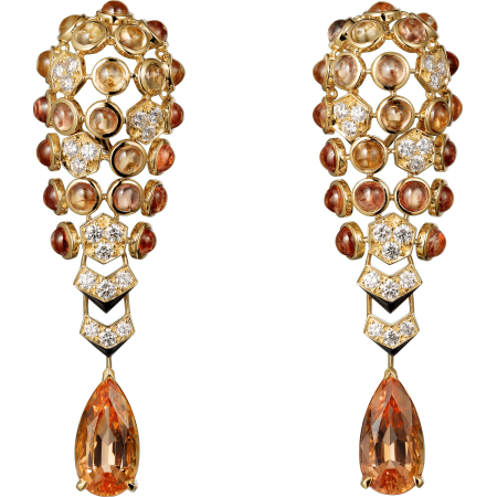 高级珠宝耳环 18K黄金