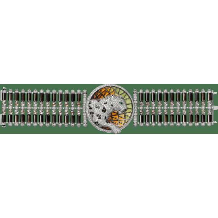 Panthère de Cartier高级珠宝手镯 18K白金