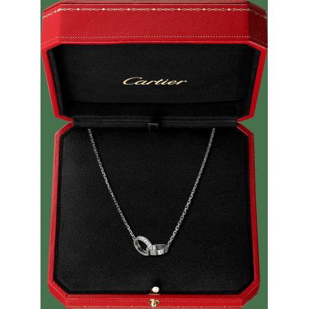 LOVE项链,镶嵌钻石 18K白金