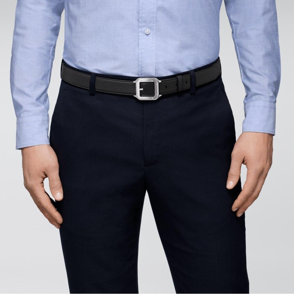 Santos de Cartier皮带 蓝色 牛皮
