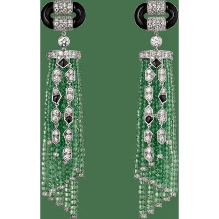 Panthère de Cartier高级珠宝耳环 铂金