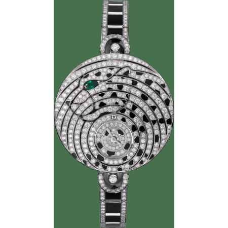 高级珠宝小时显示腕表  18K白金