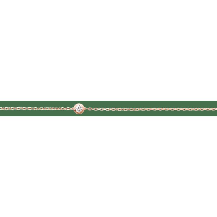 Diamants Légers 手链,小号款 18K玫瑰金