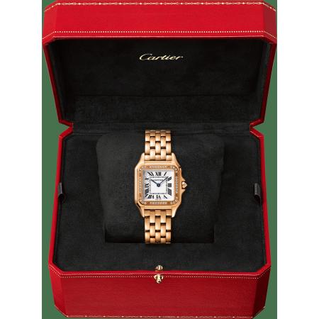 Panthère de Cartier腕表 中号 18K玫瑰金 石英
