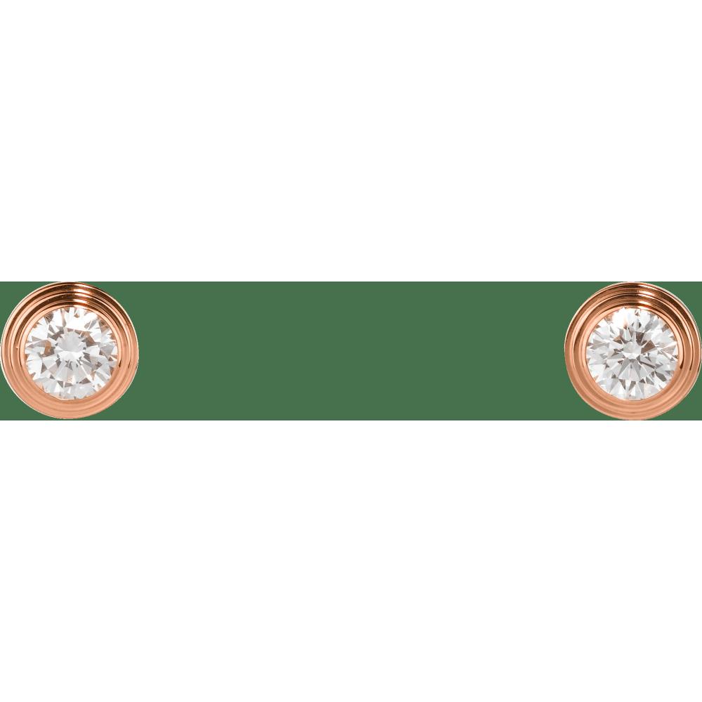 Diamants Légers 耳环,中号款 18K玫瑰金