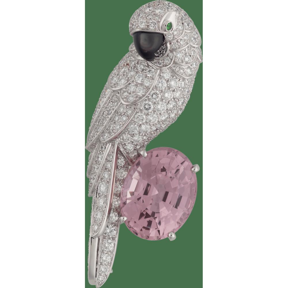 卡地亚高级珠宝动物与植物系列胸针 铂金,18K白金