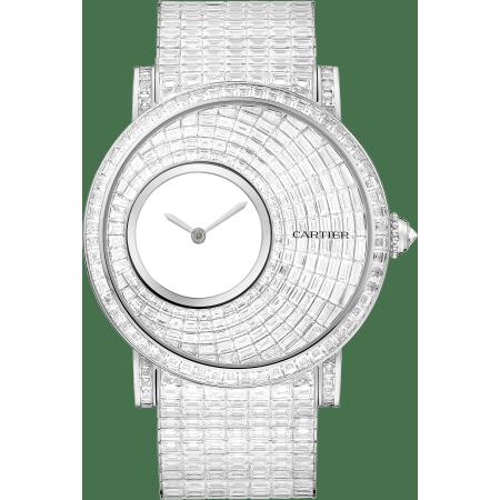 Rotonde de Cartier神秘小时腕表 43.5毫米 18K镀铑白金 手动上链
