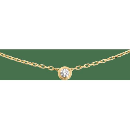 Diamants légers 项链,小号款 18K黄金