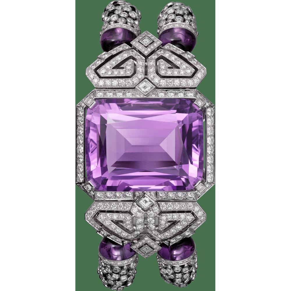 Purple高级珠宝神秘小时腕表  18K白金