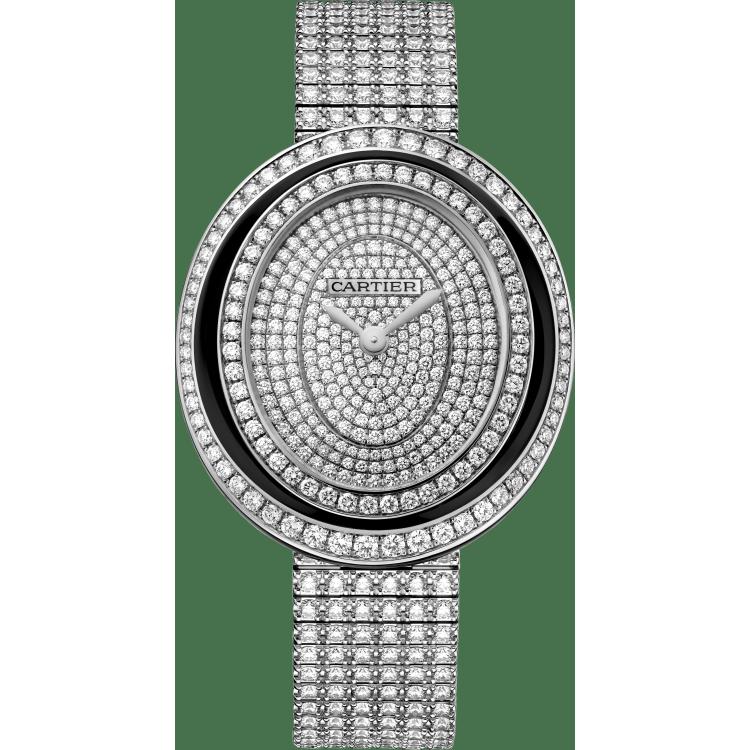 Hypnose腕表 中号 18K镀铑白金 石英
