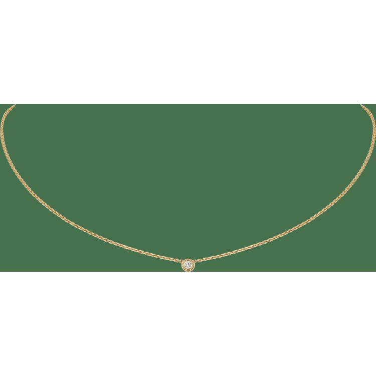 Diamants Légers 项链,超小号款 18K黄金