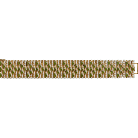 高级珠宝手镯 18K黄金