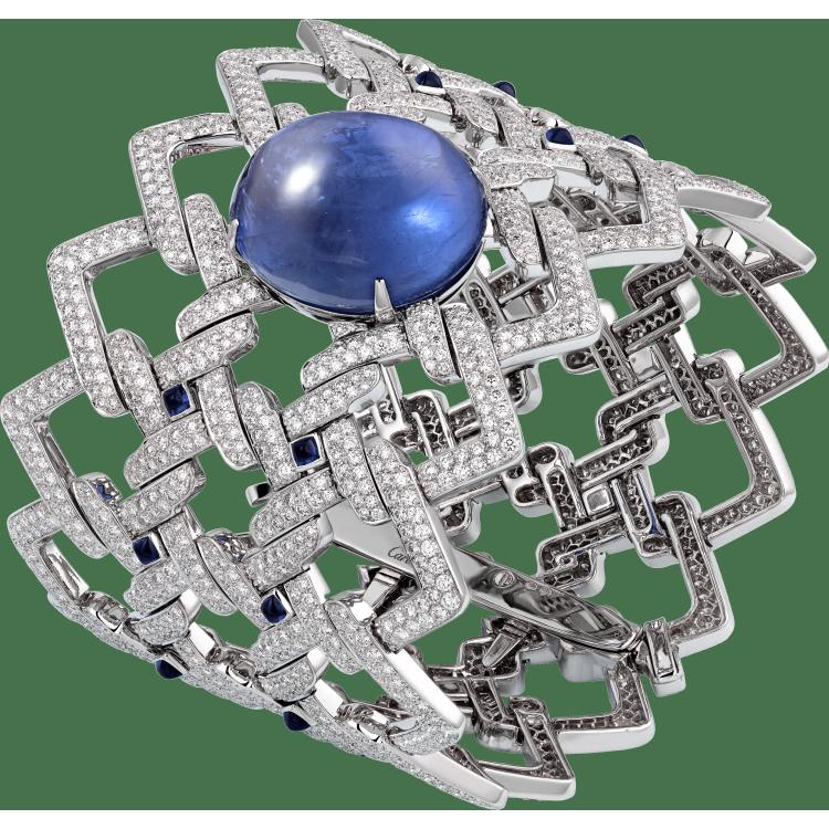 高级珠宝手镯 18K白金,其他