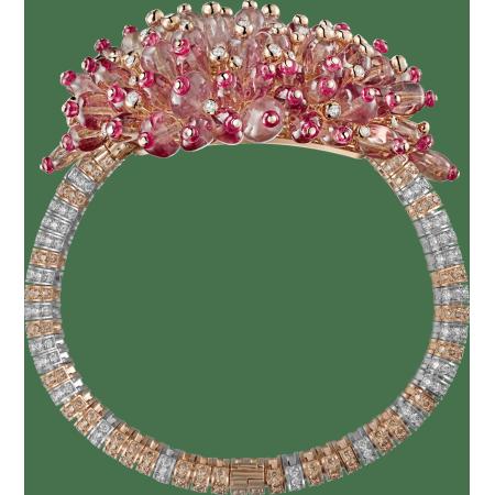 高级珠宝手镯 18K白金,18K玫瑰金