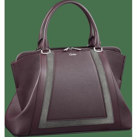 C de Cartier小号手袋 紫色 Taurillon皮革